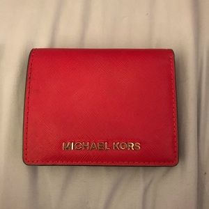 Small Red Michael Kors Wallet